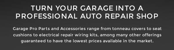Garage Pro: Turn Your Garage Into A Professional Auto Repair Shop