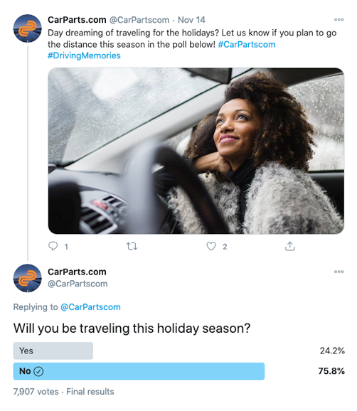 CarParts.com Twitter Poll